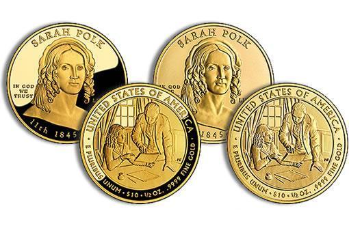 Двенадцатая монета серии «Первая леди Соединенных Штатов Америки»
